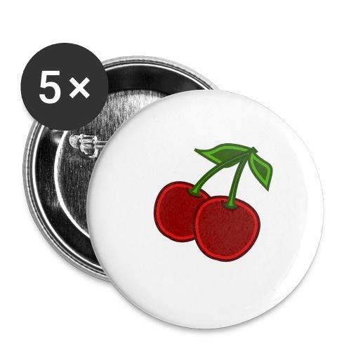 cherry - Przypinka duża 56 mm (pakiet 5 szt.)