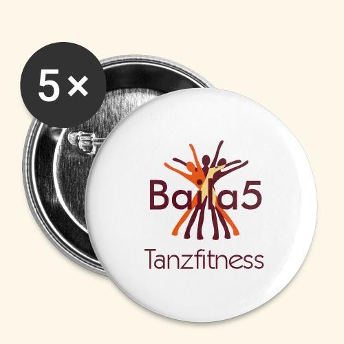 Baila5 Tanzfitness - Buttons groß 56 mm (5er Pack)