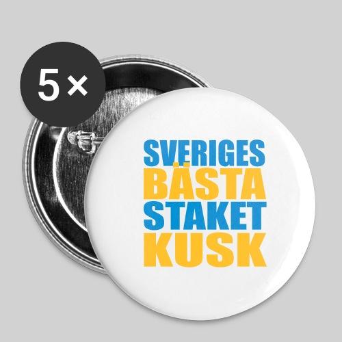 Sveriges bästa staketkusk! - Stora knappar 56 mm (5-pack)