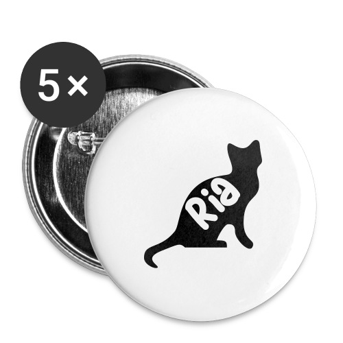 Team Ria Cat - Buttons large 2.2''/56 mm(5-pack)
