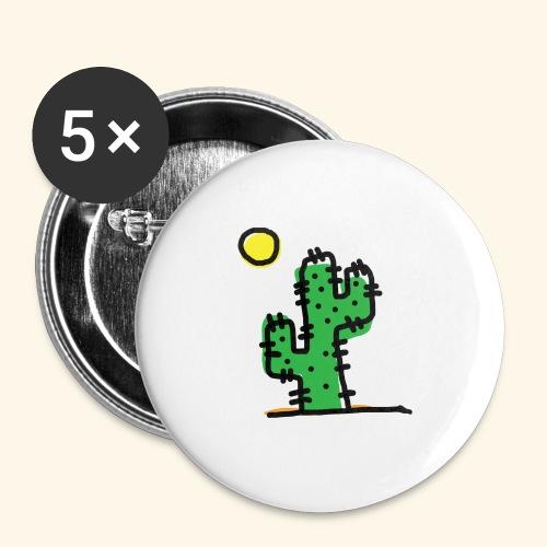 Cactus single - Confezione da 5 spille grandi (56 mm)