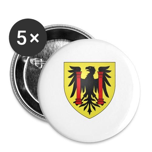 Blason Besançon - Lot de 5 grands badges (56 mm)