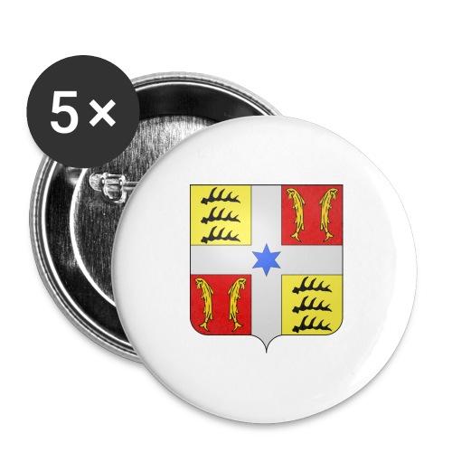 Blason Montbéliard - Lot de 5 grands badges (56 mm)