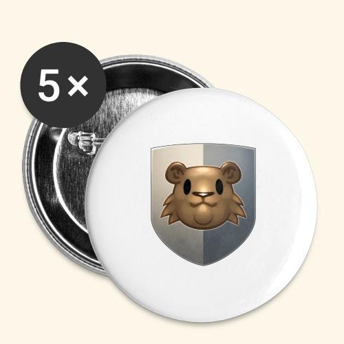 marmottes blason HD - Lot de 5 grands badges (56 mm)