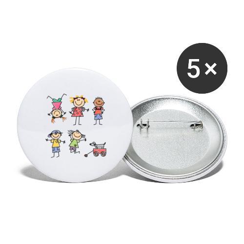 Kids - Buttons groß 56 mm (5er Pack)