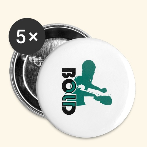 BOLD, table tennis championship ideal gift - Buttons groß 56 mm (5er Pack)