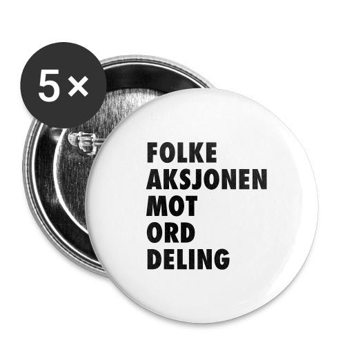 Folke aksjonen mot ord deling - Stor pin 56 mm (5-er pakke)
