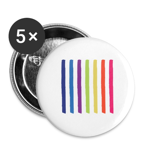 Linjer - Buttons/Badges stor, 56 mm (5-pack)