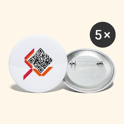 qrcodelogo - Buttons groß 56 mm (5er Pack)