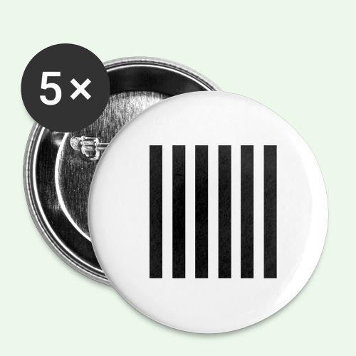 Stripes MJ Runway 2013 - Buttons groß 56 mm (5er Pack)