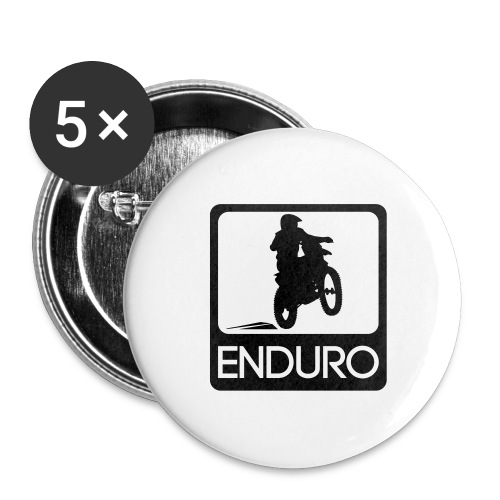 Enduro Rider - Buttons groß 56 mm (5er Pack)