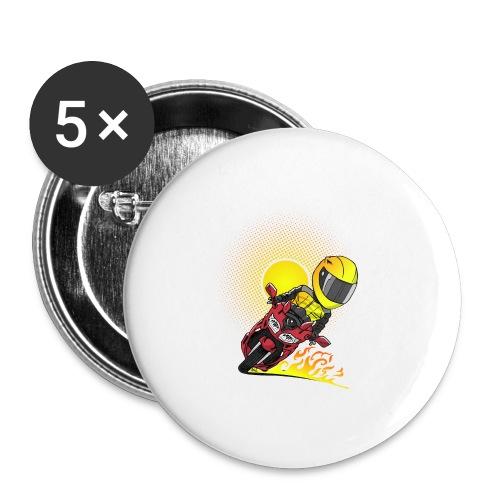 0791 fjr ROOD sun - Buttons groot 56 mm (5-pack)