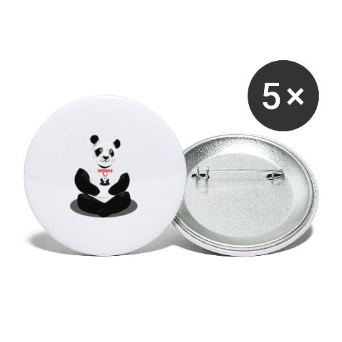 panda hd - Lot de 5 grands badges (56 mm)