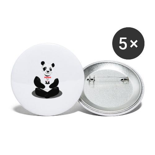 panda hd - Lot de 5 grands badges (56 mm)