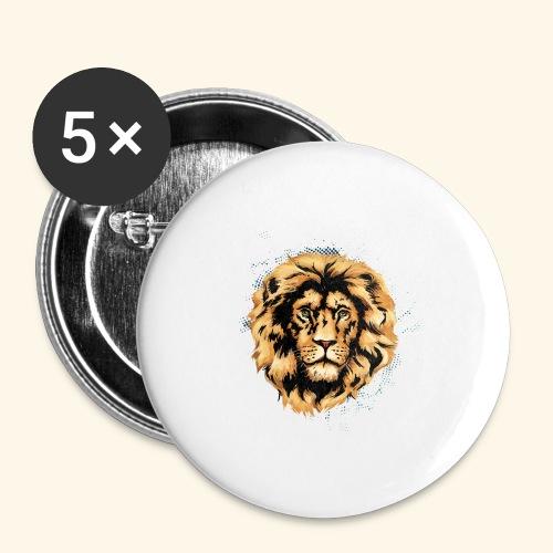 KING LION KUTUXA - Paquete de 5 chapas grandes (56 mm)