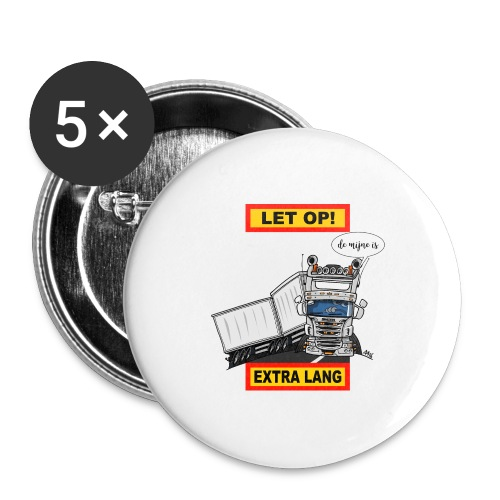 0323 extra lang - Buttons groot 56 mm (5-pack)