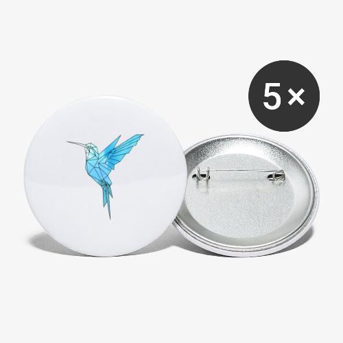 Kolibri Geometrisch - Buttons groß 56 mm (5er Pack)