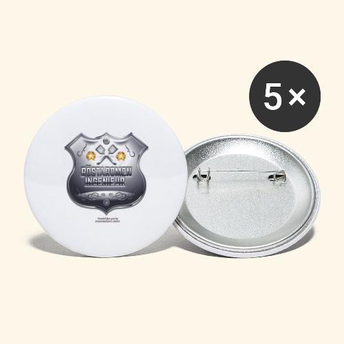 Grill T Shirt Design Röstaromeningenieur - Buttons groß 56 mm (5er Pack)