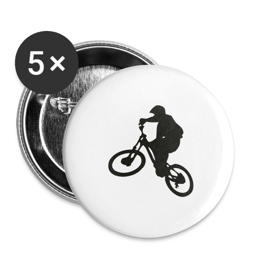 VTT Freeride - Lot de 5 grands badges (56 mm)