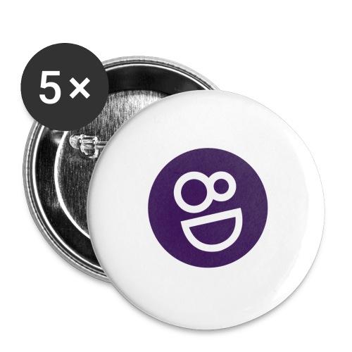 logo 8d - Buttons groot 56 mm (5-pack)