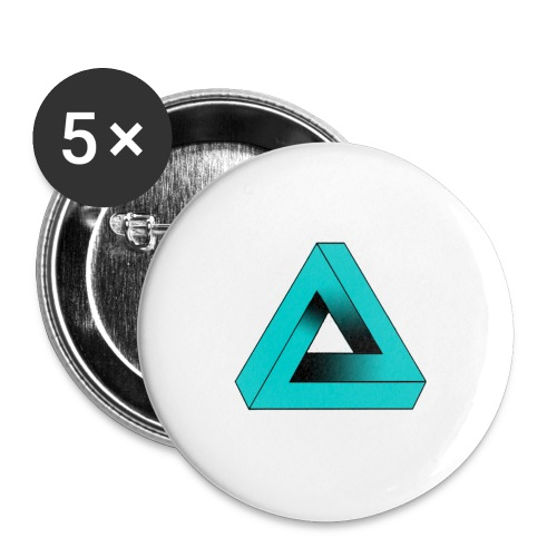 Impossible Triangle - Buttons large 2.2''/56 mm (5-pack)