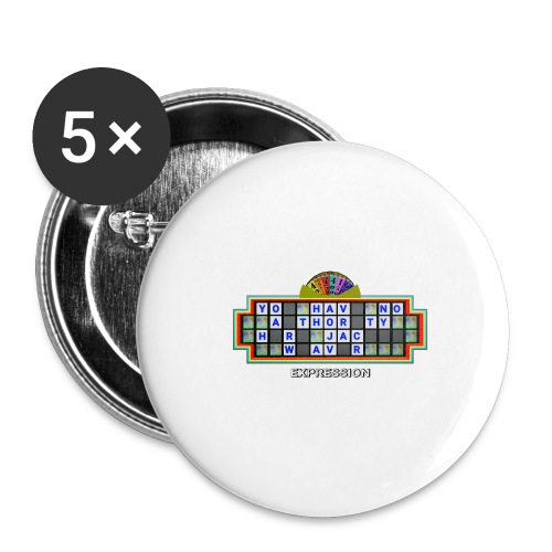 Jackie Weaver Wheel of Fortune - Buttons large 2.2''/56 mm(5-pack)