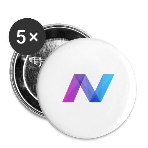 Navcoin (NAV) - Buttons groß 56 mm (5er Pack)