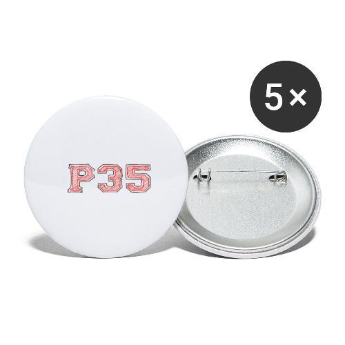 P35 Sports Logo - Buttons groß 56 mm (5er Pack)