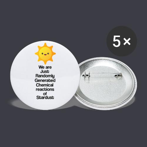t shirt zon - Buttons groot 56 mm (5-pack)