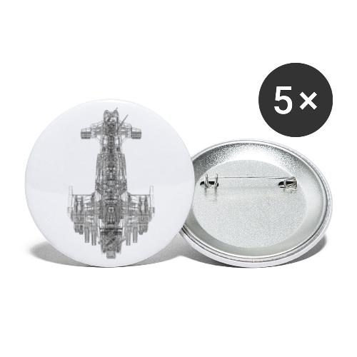 Scimitar Solo Wire 4000pi - Buttons groß 56 mm (5er Pack)