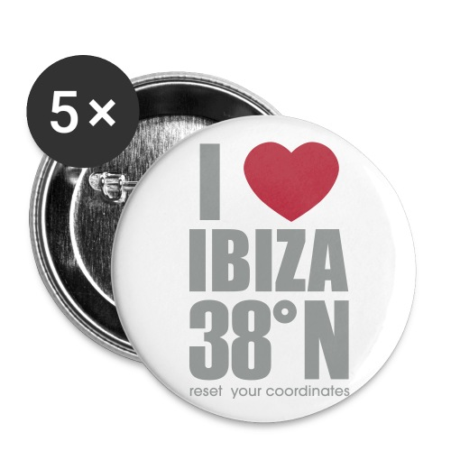 heartibiza 38north rg - Buttons large 2.2''/56 mm (5-pack)