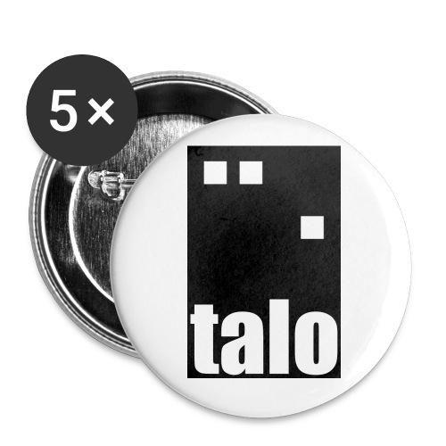 talologo600 mustavalko png - Rintamerkit isot 56 mm (5kpl pakkauksessa)