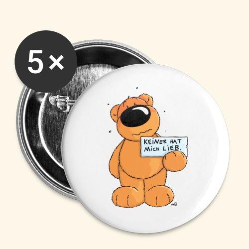 chris bears Keiner hat mich lieb - Buttons groß 56 mm (5er Pack)