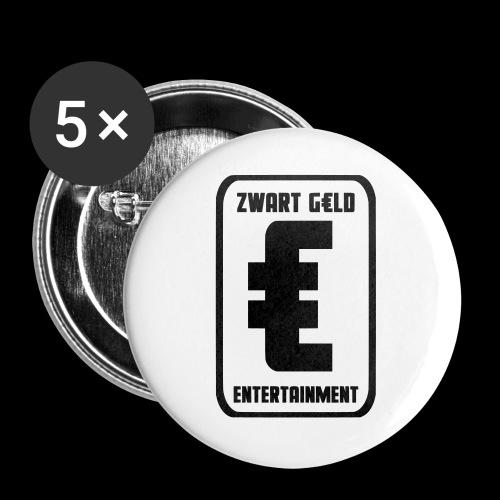 ZwartGeld Logo Sweater - Buttons groot 56 mm (5-pack)