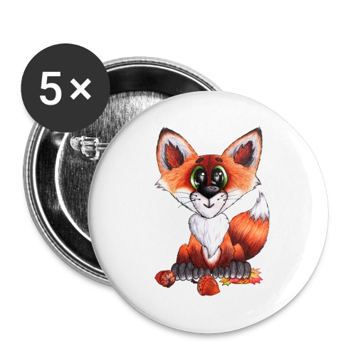 llwynogyn - a little red fox - Rintamerkit isot 56 mm (5kpl pakkauksessa)