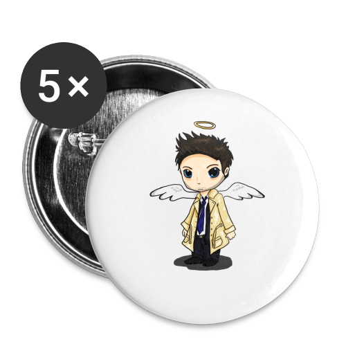 Team Castiel (dark) - Buttons large 2.2''/56 mm(5-pack)
