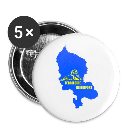 Territoire de Belfort + Lion PNG - Lot de 5 grands badges (56 mm)