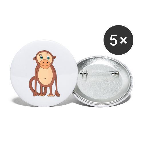 Bobo le singe - Lot de 5 grands badges (56 mm)