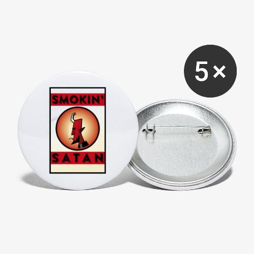 Smokin Satan - Stora knappar 56 mm (5-pack)