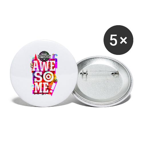 Different = Awesome - Buttons large 2.2''/56 mm (5-pack)
