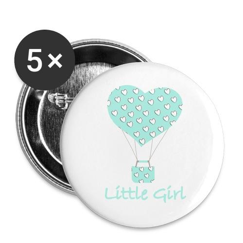 Little Girl in mongolfiera - Confezione da 5 spille grandi (56 mm)