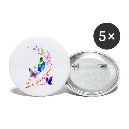 Butterfly dance dance - Buttons large 2.2''/56 mm(5-pack)