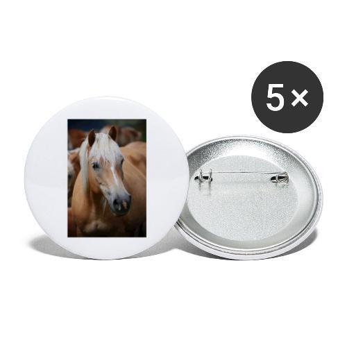 Haflinger - Buttons groß 56 mm (5er Pack)