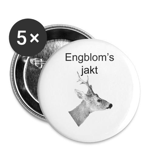 Officiell logo by Engbloms jakt - Stora knappar 56 mm (5-pack)