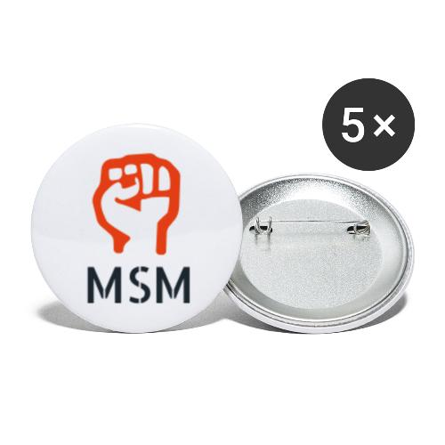 MSM FIST - Buttons/Badges stor, 56 mm (5-pack)
