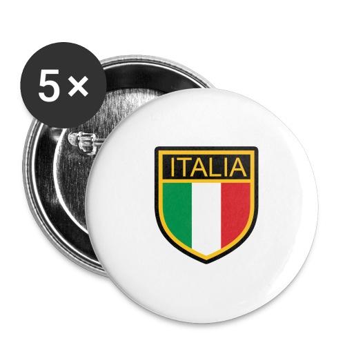SCUDETTO ITALIA CALCIO - Confezione da 5 spille grandi (56 mm)