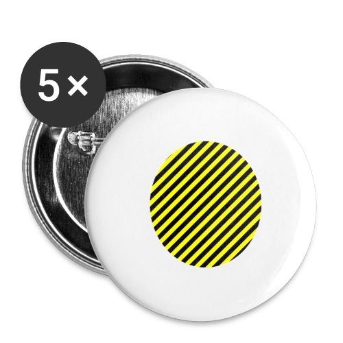 varninggulsvart - Stora knappar 56 mm (5-pack)