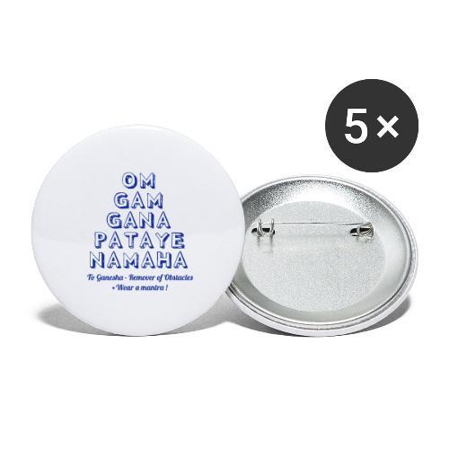 OM GAM GANAPATAYE - Confezione da 5 spille grandi (56 mm)