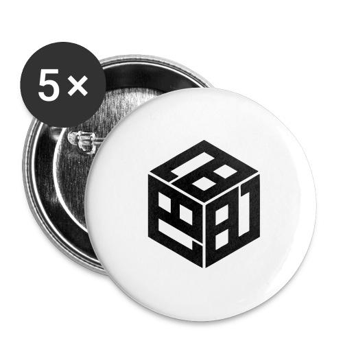 Mitsudomoe Symbol (stylisiert) - Buttons groß 56 mm (5er Pack)