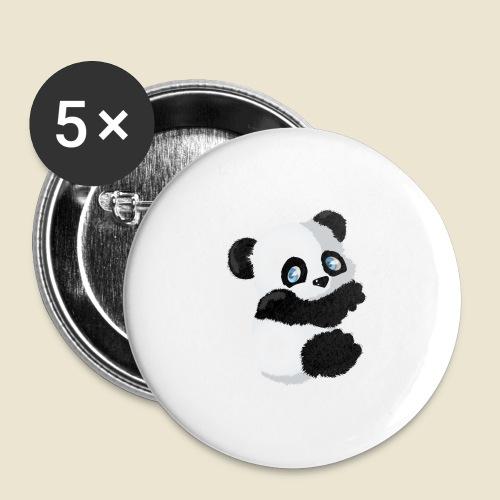 Bébé Panda - Lot de 5 grands badges (56 mm)